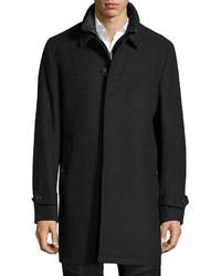 Burberry Marcham Single Breasted Coat Wwarmer Dark Charcoal Melange