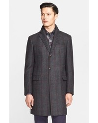 Salvatore Ferragamo Plaid Virgin Wool Topcoat