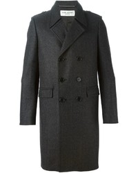 Saint Laurent Checked Overcoat