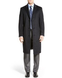 Hart Schaffner Marx Sheffield Classic Fit Wool Cashmere Overcoat