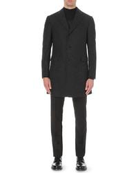 Corneliani Single Breasted Wool Blend Boucl Overcoat