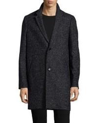 The Kooples Single Breasted Wool Blend Coat