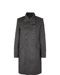 Balmain Slim Fit Double Breasted Wool And Cashmere Blend Coat