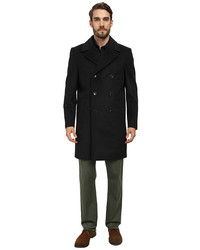 Vince Camuto Storm System Wool Melton Double Breasted Top Coat