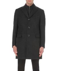 Corneliani Tonal Wool Blend Overcoat
