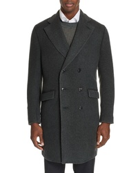 Boglioli Trim Fit Double Breasted Wool Cashmere Coat