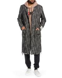 Diesel W Dext Frayed Hem Coat
