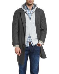Brunello Cucinelli Wool Single Breasted Coat Lignite