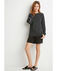 Forever 21 Contemporary Zippered Back Sweatshirt