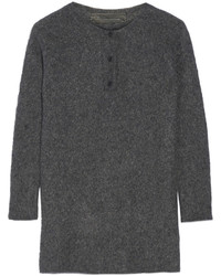 The Elder Statesman Effa Oversized Cashmere And Silk Blend Sweater Charcoal