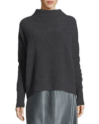 Funnel neck cashmere pullover sweater medium 4983665