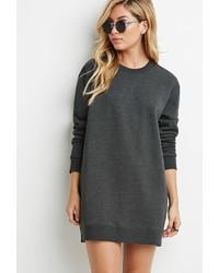 Forever 21 Longline Zipped Sweatshirt