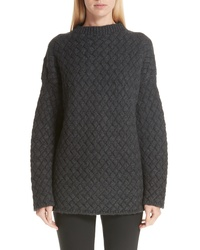 Mansur Gavriel Oversized Braided Cashmere Sweater