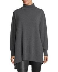 Relaxed asymmetric cashmere turtleneck sweater medium 5146613