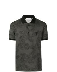 Versace Collection Paisley Printed Polo Shirt