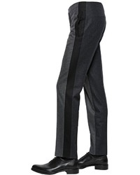 Givenchy 19cm Wool Flannel Pants With Side Bands
