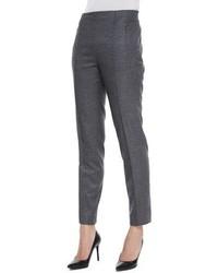 Escada Hepburn Mid Rise Slim Leg Pants Flannel