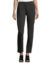 Eileen Fisher Melange Stretch Ponte Slim Pants