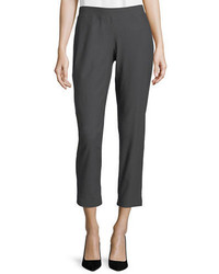 Eileen Fisher Washable Crepe Slim Leg Ankle Pants