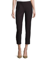 Eileen Fisher Washable Stretch Crepe Slim Ankle Pants Petite