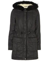 Dorothy Perkins Charcoal Printed Parka Jacket