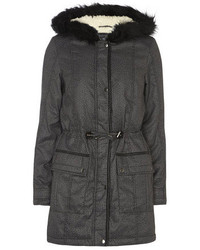 Dorothy Perkins Tall Charcoal Printed Parka
