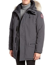 Langford slim fit down parka with genuine coyote fur trim medium 3751047