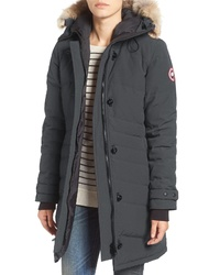 Canada Goose Lorette Hooded Down Parka With Genuine Coyote