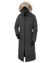 Mystique regular fit down parka with genuine coyote fur trim medium 517112