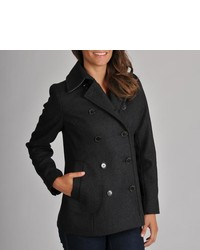Tommy Hilfiger Charcoal Wool Pea Coat