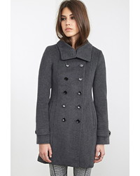 Forever 21 Double Breasted Peacoat