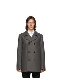 Hugo Grey Wool Balno Peacoat
