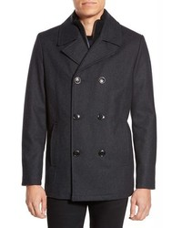 Kenneth Cole Reaction Kenneth Cole New York Classic Peacoat With Knit Bib Lining