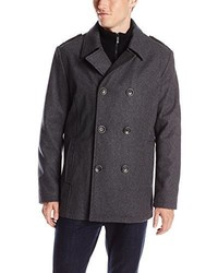 Kenneth Cole Reaction Classic Peacoat With Bib And Epaulettes