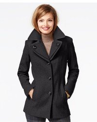 London Fog Layered Collar Peacoat
