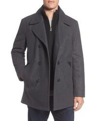 Marc new york burnett wool blend peacoat with front insert medium 5253951