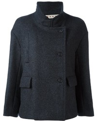 Marni Short Standing Collar Peacoat