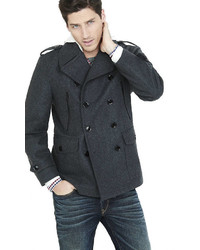 Tall Wool Blend System Peacoat