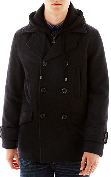 i jeans by Buffalo Wool Blend Pea Coat   Where to buy & how to wear