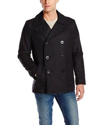 Levi's Wool Classic Double Breasted Wool Blend Peacoat
