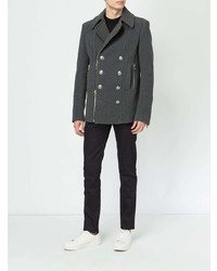 Balmain Zipped Double Breasted Coat