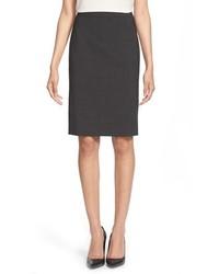 BOSS Vilea Stretch Wool Pencil Skirt