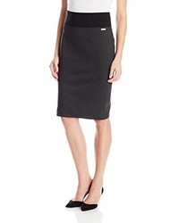 Calvin Klein Essential Power Stretch Pencil Skirt Charcoal Large