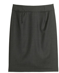 J.Crew Pencil Skirt In Pinstripe Super 120s Wool