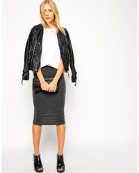 Asos Midi Pencil Skirt In Jersey