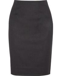 Oscar de la Renta Wool Blend Felt Pencil Skirt