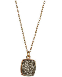 Ettinger UK Dara Ettinger Aria Charcoal Druzy Pendant Necklace