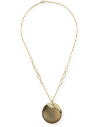 Alexis Bittar Liquid Metal Long Disk Pendant Necklace 32
