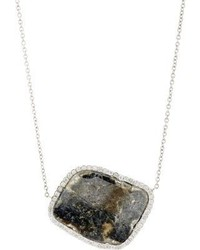 Atelier Monique Pan Diamond Slice Pendant Necklace Colorless