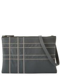Brunello Cucinelli Monili Plaid Detail Crossbody Bag Graphite